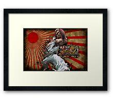 SSF4 - Ryu Sunburst Framed Print