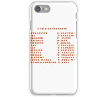 A to Z of Flirting iPhone Case/Skin