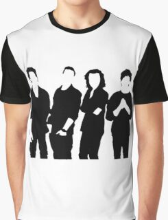 One Direction Silhouette Black and White Graphic T-Shirt