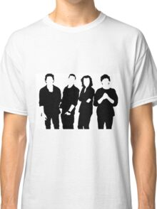 One Direction Silhouette Black and White Classic T-Shirt
