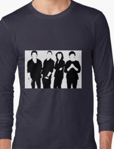 One Direction Silhouette Black and White Long Sleeve T-Shirt