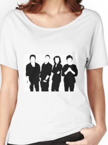One Direction Silhouette Black and White Women's Relaxed Fit T-Shirt