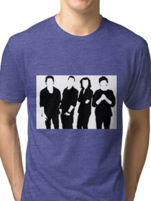 One Direction Silhouette Black and White Tri-blend T-Shirt