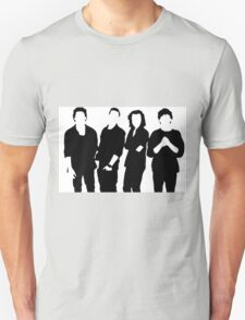 One Direction Silhouette Black and White Unisex T-Shirt