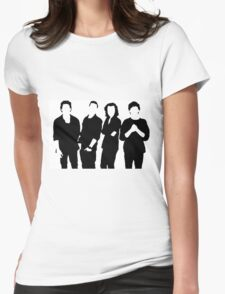 One Direction Silhouette Black and White Womens Fitted T-Shirt