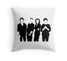 One Direction Silhouette Black and White Throw Pillow