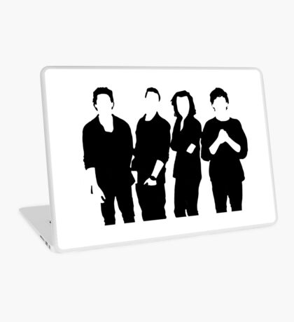 One Direction Silhouette Black and White Laptop Skin