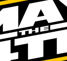 Happy May the 4th! (Yellow/White-Slanted) Sticker
