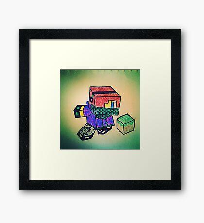 MineCraft KID Framed Print