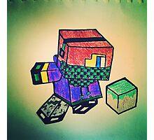 MineCraft KID Photographic Print