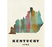 kentucky state map Photographic Print