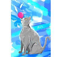 Cat Painting pt4 Photographic Print