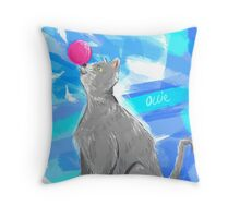 Cat Painting pt4 Throw Pillow