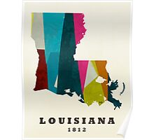 Louisiana state map  Poster
