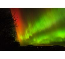 Red Aurora Photographic Print