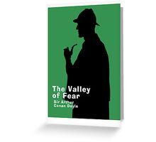 The Valley of Fear Book Cover Greeting Card