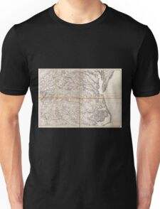 Civil War Maps 2136 Map of Virginia and North Carolina from the coast to the Blue Ridge Unisex T-Shirt