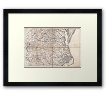 Civil War Maps 2136 Map of Virginia and North Carolina from the coast to the Blue Ridge Framed Print