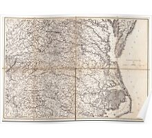 Civil War Maps 2136 Map of Virginia and North Carolina from the coast to the Blue Ridge Poster