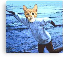 Cat At the Beach Canvas Print