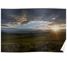 Ireland field sunset Poster