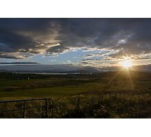Ireland field sunset Photographic Print