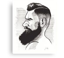 Kenny Brain - Bearded War Lord Canvas Print