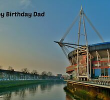 Millennium Stadium, Cardiff - Birthday Card Dad by Paula J James