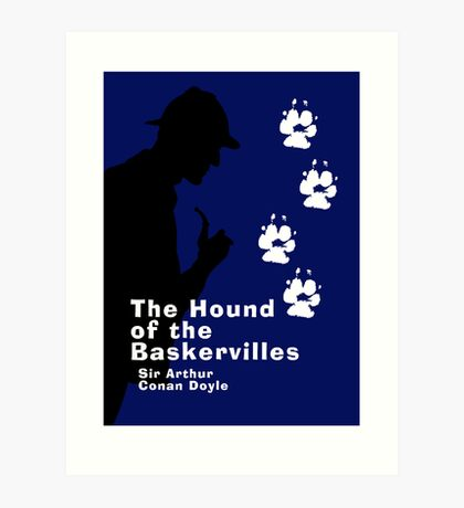 The Hound of the Baskervilles Book Cover Art Print