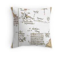 The Hobbit map Throw Pillow
