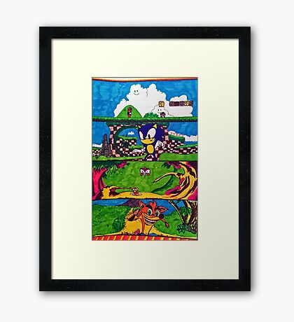 The Classic Game Collection! Framed Print