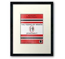 Toews Of Wrath Book Cover Framed Print