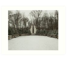 Sunken Garden - Winter Art Print