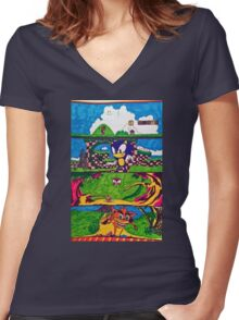 The Classic Game Collection! Women's Fitted V-Neck T-Shirt