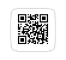 Cool simplistic QR-code Sticker