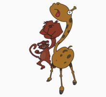 Street Monkey Giraffe Fighter by hushdesigns
