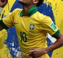 Neymar Brazil football soccer Full canvas  Sticker