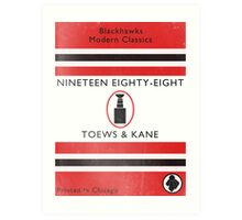 Nineteen Eighty Eight Book Cover Art Print