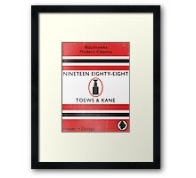 Nineteen Eighty Eight Book Cover Framed Print