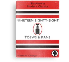 Nineteen Eighty Eight Book Cover Canvas Print