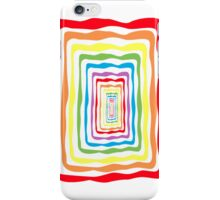 Rainbow wormhole, white background. Phone case iPhone Case/Skin