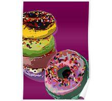 6 donuts Pop Art print Poster