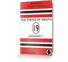 Toews Of Wrath Book Cover Greeting Card