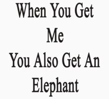 When You Get Me You Also Get An Elephant  by supernova23
