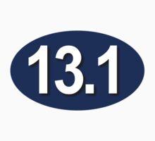 13.1 Oval Sticker Blue by robotface