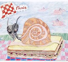 Ant Sally Glides To The Picnic by pinkyjainpan