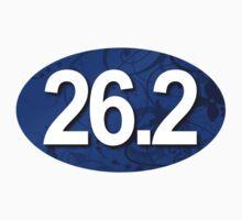 26.2 Oval Sticker - Fancy Blue by robotface