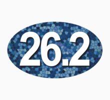 26.2 Oval Sticker - Blue Mosaic by robotface