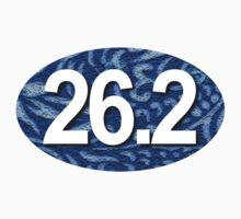 26.2 Oval Sticker - Tropical Blue by robotface