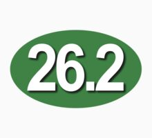 26.2 Oval Sticker - GREEN by robotface